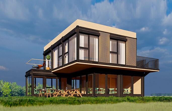 Concept casa container